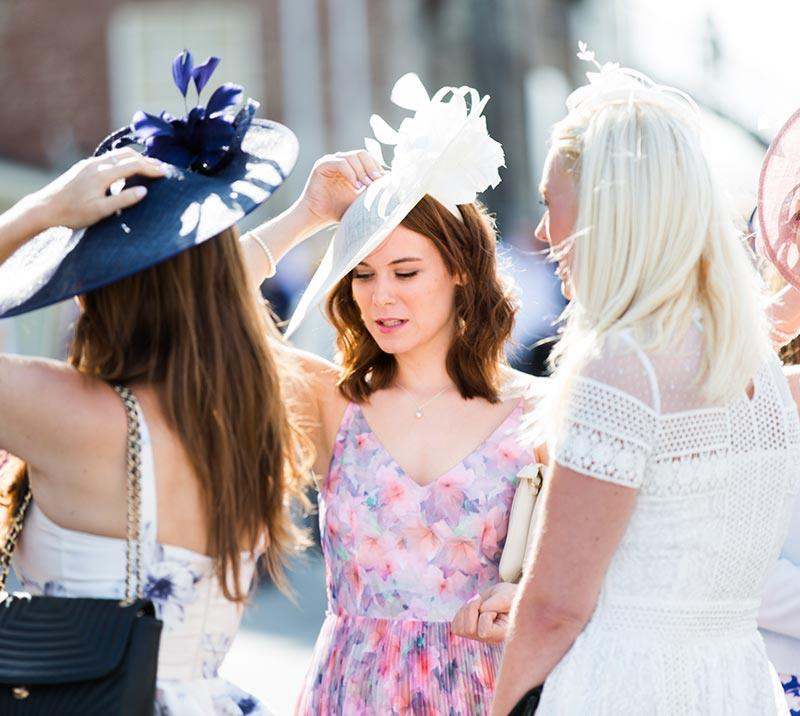 bath racecourse women gathering for ladies day