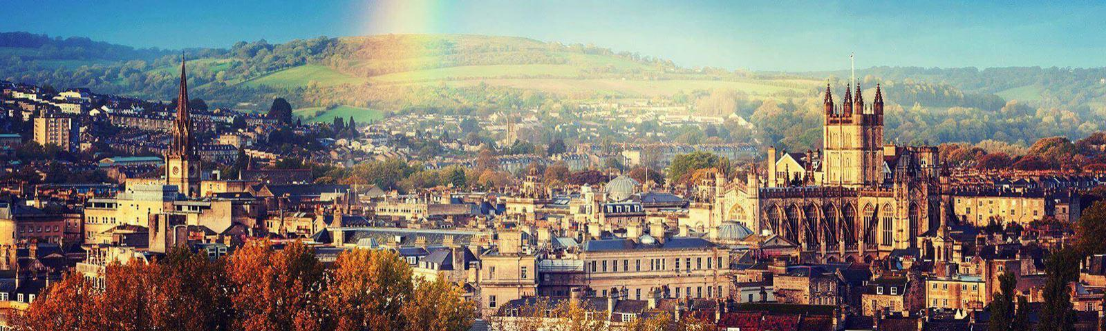 Panoramic view of the city of Bath.