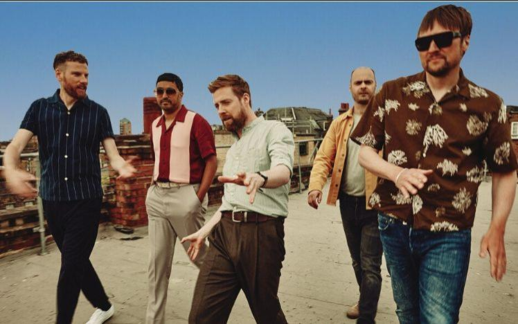 Kaiser Chiefs performing at Bath Racecourse 2020