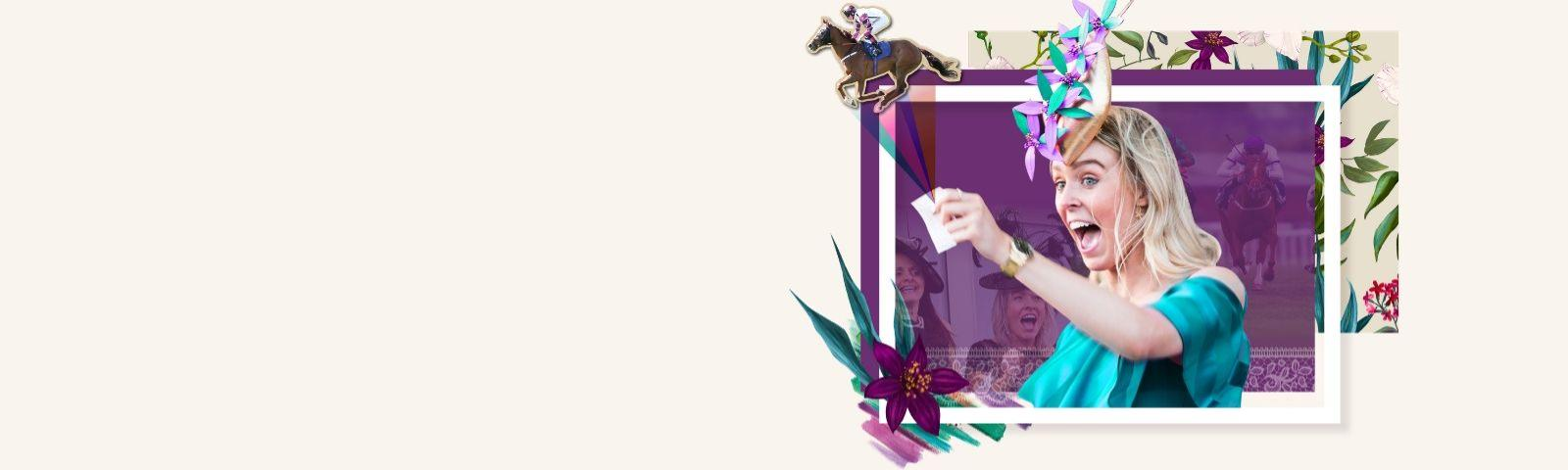 Promotional banner for Bath Racecourse Ladies Day 2020. Experience exciting live racing and ladies day fashion.