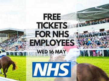 Promotional banner for a raceday ticket offer for NHS employees.
