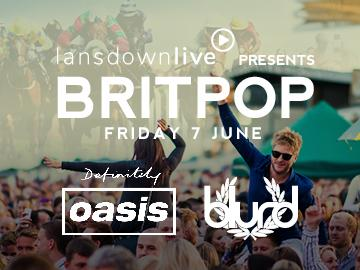 Promotional banner for Lansdown Live presents Britpop