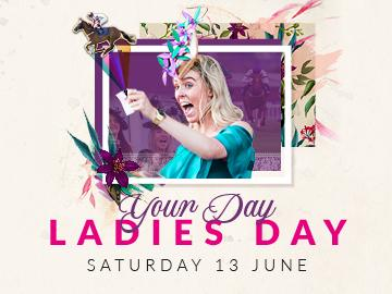 Promotional banner for Bath Racecourse Ladies Day on Saturday 13 June 2020. Exciting live horse racing and ladies day fashion